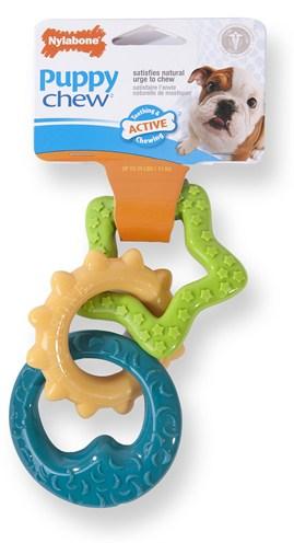 Nylabone puppy chew bijtringen (TOT 11 KG)