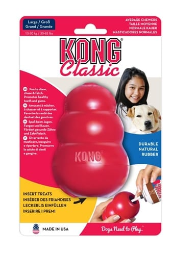 Kong classic rood (LARGE 7X7X10 CM)