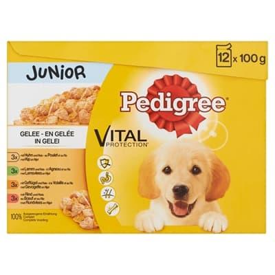 Pedigree multipack maaltijdzakjes junior in gelei (100 GR)