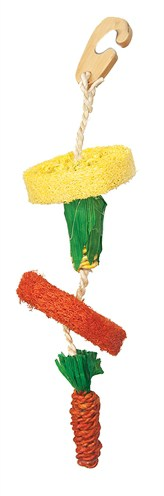 Happy pet natural loofah hangspeelgoed (30 CM)