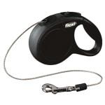 Flexi rollijn classic cord zwart (XS 3 MTR)