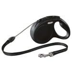 Flexi rollijn classic cord zwart (M 5 MTR)