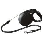 Flexi rollijn classic cord zwart (S 8 MTR)