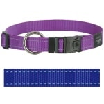 Rogz for dogs lumberjack halsband blauw (25 MMX43-73 CM)