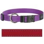 Rogz for dogs lumberjack halsband rood (25 MMX43-73 CM)