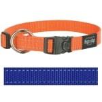 Rogz for dogs fanbelt halsband blauw (20 MMX34-56 CM)