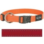 Rogz for dogs fanbelt halsband rood (20 MMX34-56 CM)