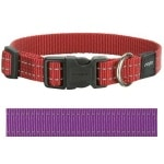 Rogz for dogs snake halsband paars (16 MMX26-40 CM)