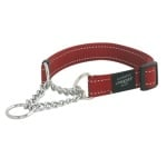 Rogz for dogs lumberjack choker rood (25 MMX43-73 CM)