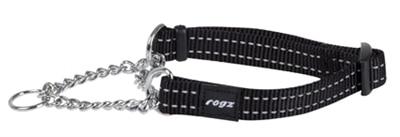 Rogz for dogs snake choker zwart (16 MMX32-44 CM)