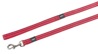 Rogz for dogs snake lijn rood (16 MMX1,4 MTR)