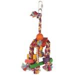 Happy pet speelgoed papegaai fiesta assorti (31X12X10 CM)