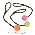 Happy pet tough toys rubber jumbo bal aan (JUMBO 33,5X8X8 CM)