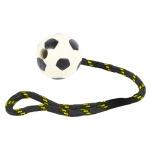 Happy pet tough toys werptouw met rubber voetbal (37,5X6,5X6,5 CM)