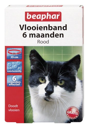 Beaphar vlooienband kat rood