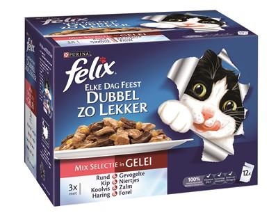 Felix elke dag feest pouch dubbel zo lekker mix selectie in gelei