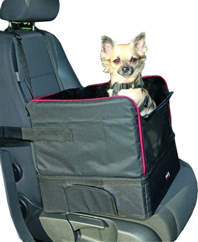 Trixie autostoel voor kleine honden zwart (45X38X37 CM)