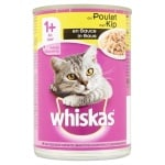 Whiskas blik adult brokjes in saus kip (12X400 GR)