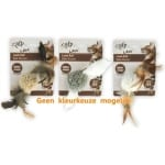 Afp lamb ball lamswol met veren vogel geluid en catnip assorti (5X5X3 CM)