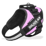 Julius k9 power-harnas/tuig voor labels roze (MINI/49-67 CM)