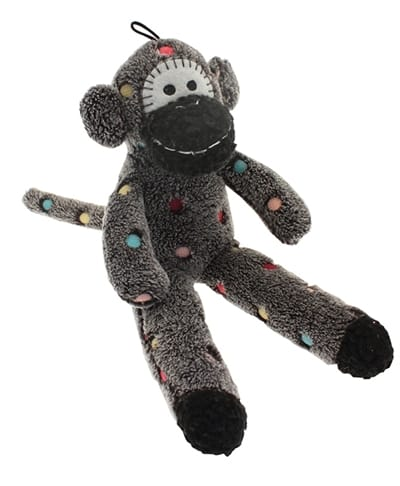 Multipet pluche sock monkey assorti (31X13X6 CM)