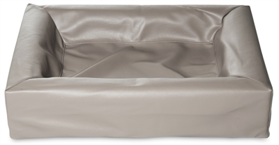 Bia bed kunstleer hoes hondenmand taupe (BIA-70 85X70X15 CM)