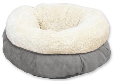 Afp lamswol donut bed grijs (45X45X25 CM)