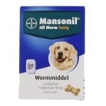 Mansonil hond all worm tasty tabletten (2 ST)