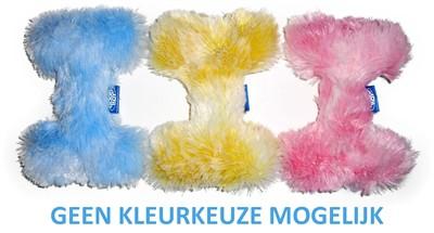 Pluche puppy bot roze, geel of lichtblauw