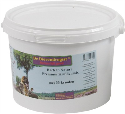 Dierendrogist back to nature premium kruidenmix met 33 kruiden