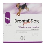Bayer drontal tasty ontworming hond (2 TABLETTEN)
