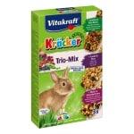 Vitakraft dwergkonijn krackers noot/bosvruchten/groenten (3 IN 1)