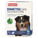 Beaphar dimethicare line-on hond tegen vlooien en teken (15-30 KG 6 PIP 3 ML)