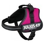 Julius k9 power-harnas / tuig voor labels fuchsia (MINIMINI/40-53 CM)