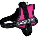 Julius k9 power-harnas / tuig voor labels fuchsia (MINI/51-67 CM)