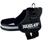 Julius k9 power-harnas / tuig voor labels zwart (MAAT 1/66-85 CM)