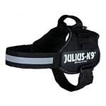 Julius k9 power-harnas / tuig voor labels zwart (MAAT 2/71-96 CM)