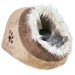 Trixie kattenmand iglo minou beige / bruin (41X35X26 CM)
