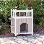 Trixie kattenhuis cat's home met balkon grijs / wit (45X65X45 CM)