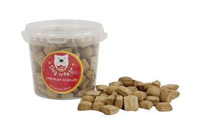 Dog treatz lam/rijst koekjes (870 ML 450 GR)