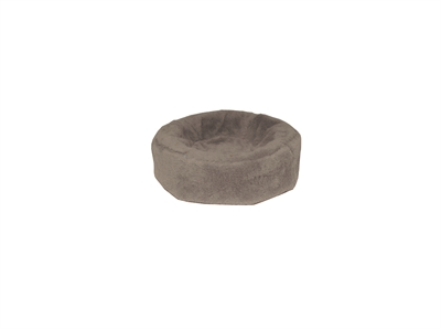 Bia bed fleece overtrek hondenmand taupe (BIA-50R 50X50X12 CM ROND)