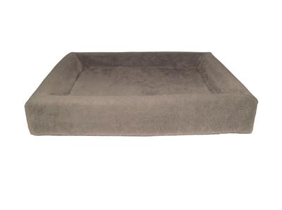 Bia bed fleece overtrek hondenmand taupe (BIA-70 85X70X15 CM)