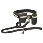 Trixie heupriem met jogginglijn zwart (RIEM 60-120 CM LIJN 100-135 CM)
