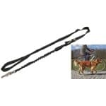Trixie fietslijn / jogginglijn zwart (100-200X2,5 CM)