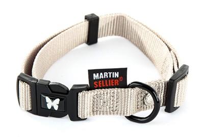 Martin sellier halsband nylon grijs verstelbaar (10 MMX20-30 CM)