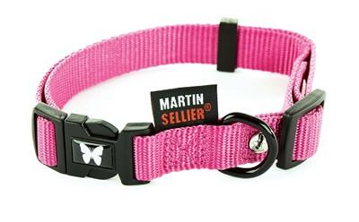 Martin sellier halsband nylon roze verstelbaar (10 MMX20-30 CM)