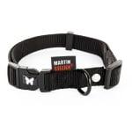 Martin sellier halsband nylon zwart verstelbaar (16 MMX30-45 CM)