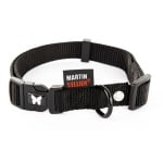 Martin sellier halsband nylon zwart verstelbaar (25 MMX45-65 CM)