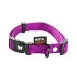 Martin sellier halsband nylon paars verstelbaar (25 MMX45-65 CM)