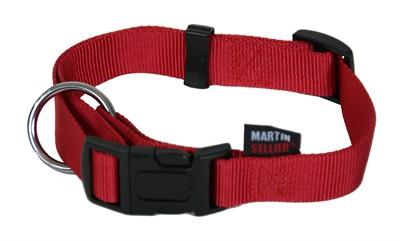 Martin sellier halsband basic nylon rood (10 MMX20-30 CM)
